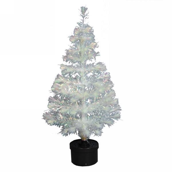 Елка светодиодная 90 см белая оптоволокно купить оптом и в розницу