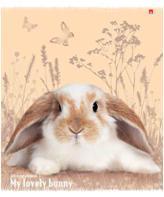 """Тетрадь 48л.кл.скрепка АЛЬТ, """"Милые крольчата"""", гибридн.лак купить оптом и в розницу"""