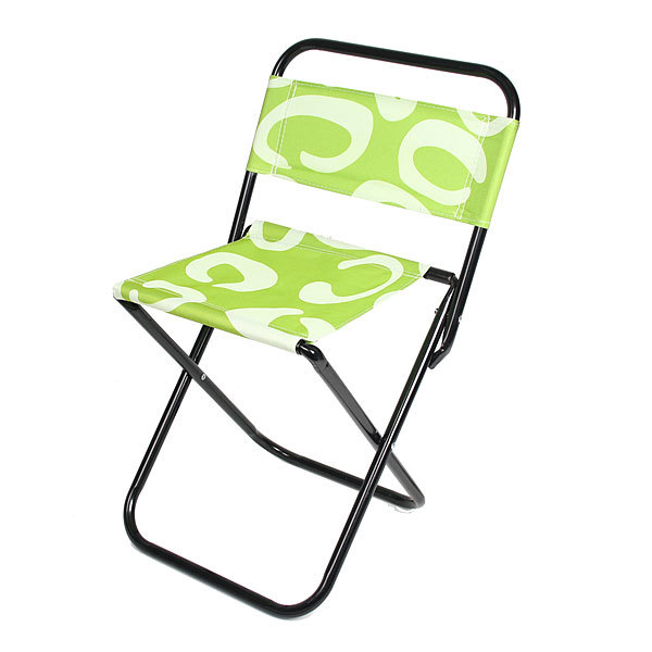 Стул туристический складной со спинкой, цвет зеленый,дизайн завиток,28*35*58см купить оптом и в розницу