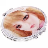 Зеркало косметическое переливающееся ″Куколка″ овал 6*7см купить оптом и в розницу