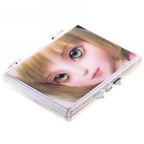 Зеркало косметическое переливающееся ″Куколка″ прямоугольник 7*5см купить оптом и в розницу