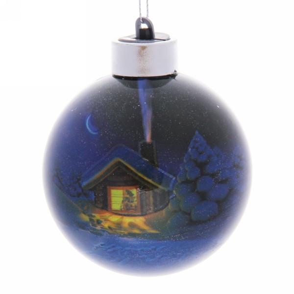 Новогодний шар с подсветкой ″Новогодний свет″ 8 см купить оптом и в розницу