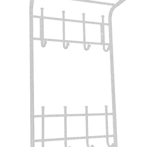 Вешалка 2х ярусная 40 см белое серебро (Арт.ВСП166БС) купить оптом и в розницу