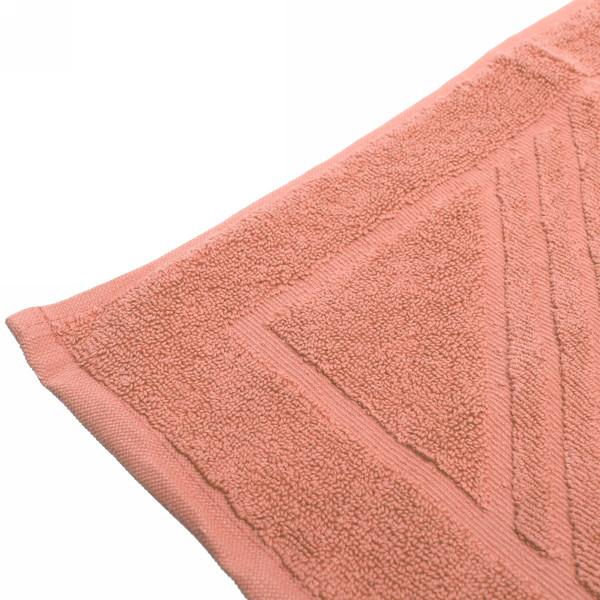 Махровое полотенце для ног 50*70см коралловое купить оптом и в розницу