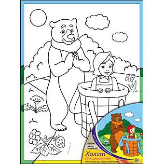 Набор ДТ Роспись по холсту Маша и Медведь Х-9827 купить оптом и в розницу