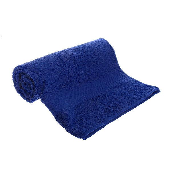 Махровое полотенце 70*140см темно-синее ЭК140 Д01 купить оптом и в розницу