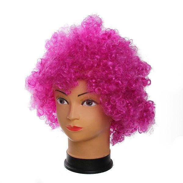 Парик карнавальный ″Афро″ фиолетовый цв 999-1 купить оптом и в розницу