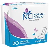 Ультратонкие прокладки ежедневные NORMAL cliniс - cotton & slim- 180 мм, в ПЭ упаковке, с и/у 20шт купить оптом и в розницу