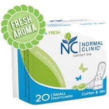 Прокладки ультратонкие ежедневные NORMAL cliniс Fresh - cotton & slim- 150 мм, в ПЭ упаковке, с и/у 20шт купить оптом и в розницу