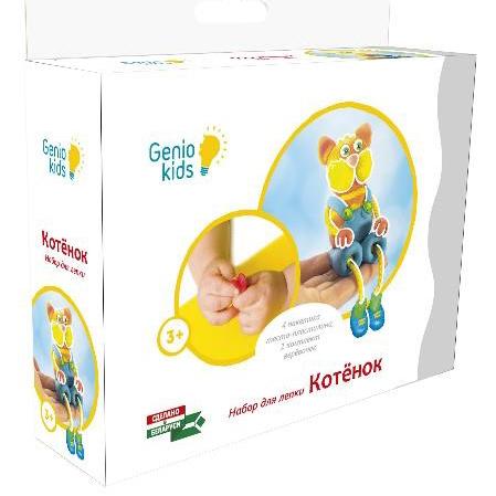 Набор ДТ Тесто для лепки Котик ТА1076-1 /Genio Kids купить оптом и в розницу