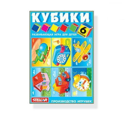 Кубики в картинках 6шт Любимые игрушки 00822 /32/ купить оптом и в розницу