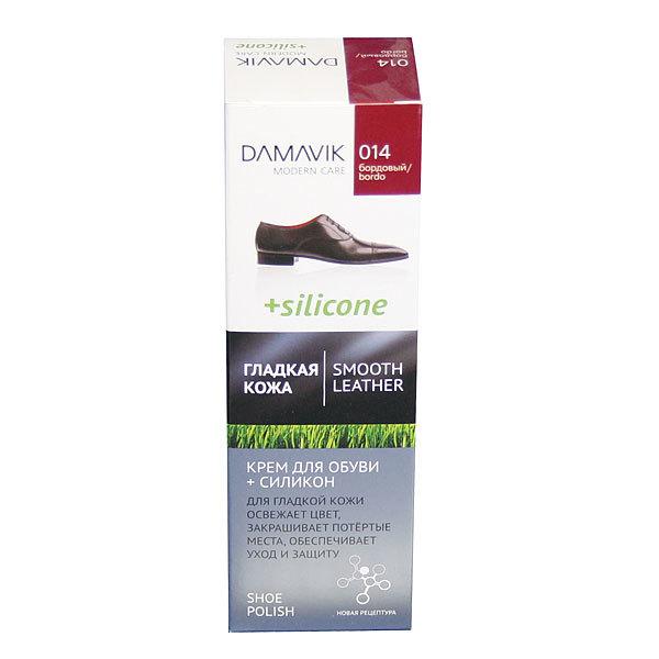 Крем для обуви с силиконом 75мл бордо Дамавик 9301014 /24 купить оптом и в розницу