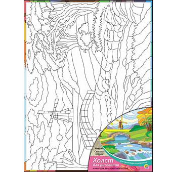 Набор ДТ Роспись по холсту Сельский пейзаж Х-0333 купить оптом и в розницу