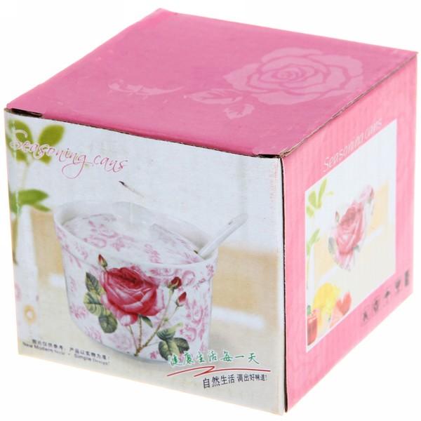 Сахарница керамическая 350мл ″Розы″ купить оптом и в розницу