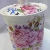 Банка для сыпучих продуктов ″Цветы″ 800мл, керамика BY-5014М купить оптом и в розницу