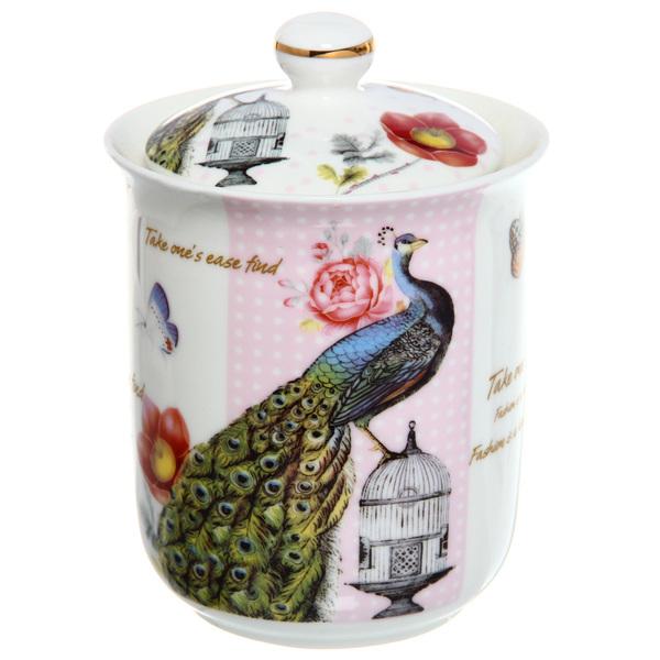 Банка для сыпучих продуктов ″Павлин″ 800мл, керамика купить оптом и в розницу