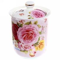 Банка для сыпучих продуктов ″Розы″ 800мл, керамика BY-5014М купить оптом и в розницу