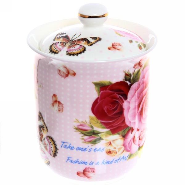 Банка для сыпучих продуктов ″Розы″ 800мл, керамика купить оптом и в розницу