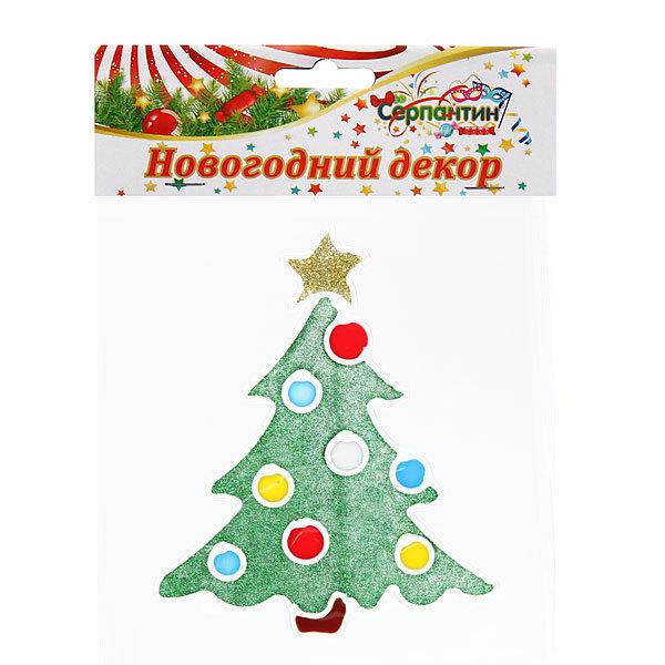 Наклейка на стекло 13,5*12см, ″Елочка Новогодняя″ ВА067 купить оптом и в розницу