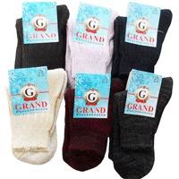 Носки женские теплые GRAND, аналог ручной вязки, цвет в ассортименте р. 23 купить оптом и в розницу