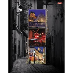 """Тетрадь А4 160л.кл.спираль HATBER, """"Краски Парижа"""", тв.обложка купить оптом и в розницу"""