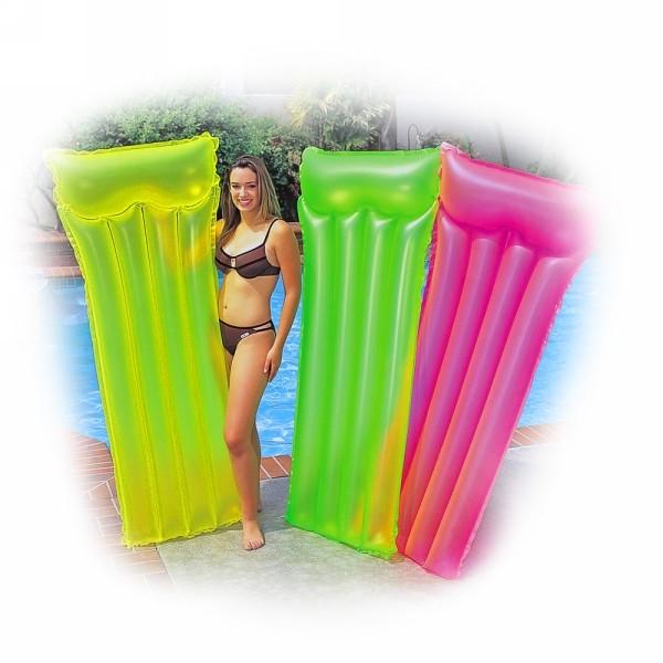 Матрас пляжный 183*76 см Neon Frost Air Intex (59717) купить оптом и в розницу