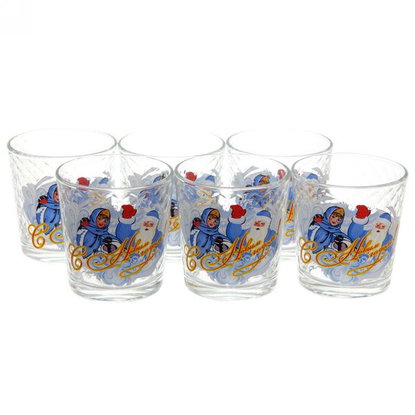 Набор стаканов 6шт ″Дед Мороз″ в подарочной упаковке (1) купить оптом и в розницу