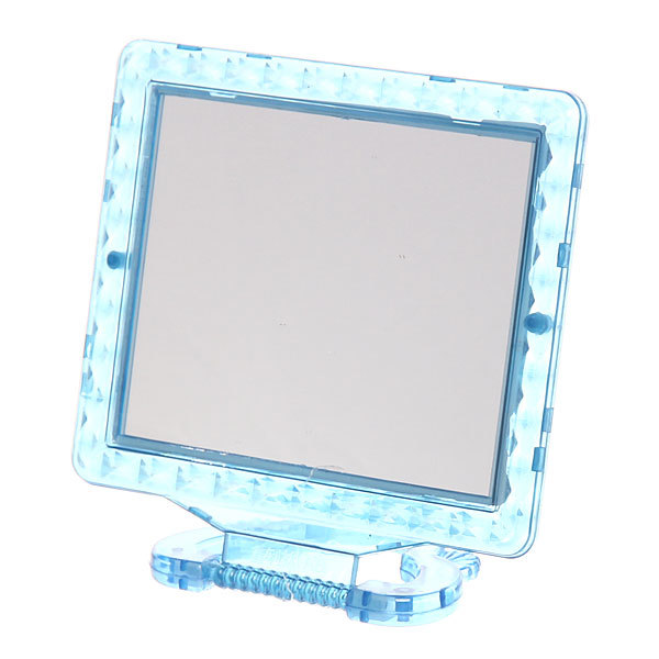 Зеркало настольное в пластиковой оправе ″Классика - Ромбы″ прямоугольник, подвесное 13,5*11см купить оптом и в розницу