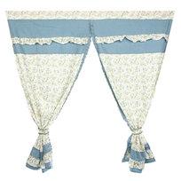 Шторы Прованс 150*150см 2шт синяя листва купить оптом и в розницу