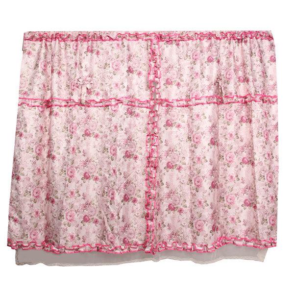Шторы Прованс 200*140см 2шторы+тюль розовые розы купить оптом и в розницу