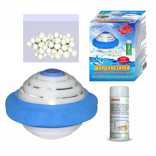 Набор для стирки (шар для стирки с наполнителем, запасная упаковка, пятновыводитель) J87-121 купить оптом и в розницу