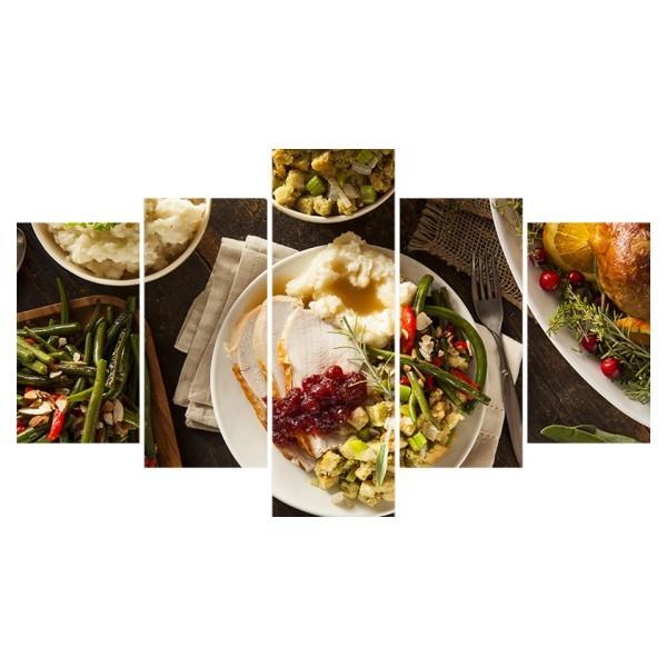 Картина модульная полиптих 75*130 см, ужин купить оптом и в розницу