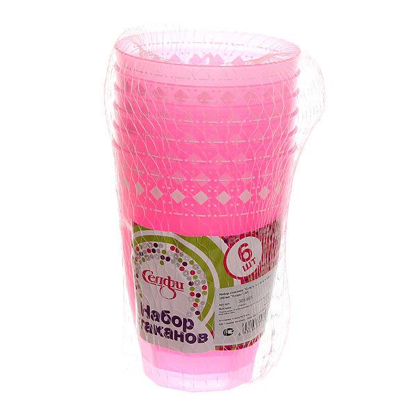 Набор стаканов пластиковых 6шт 300мл ″Узоры″ Селфи купить оптом и в розницу