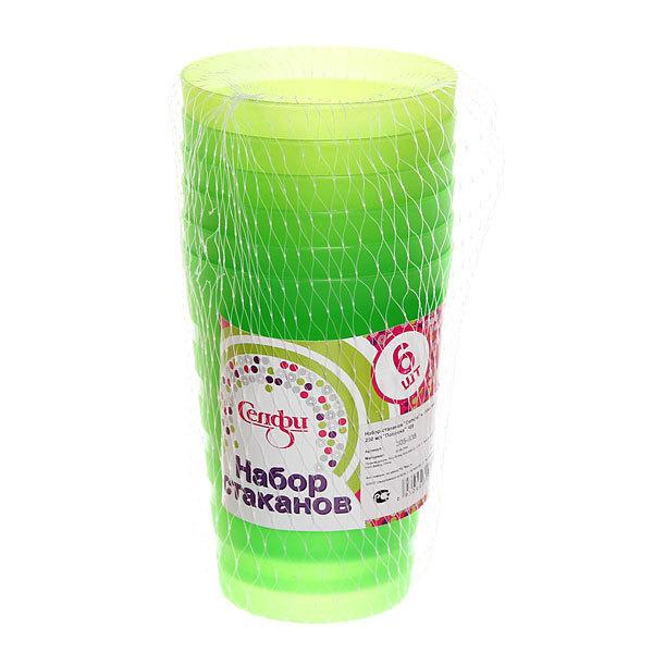 Набор стаканов пластиковых 6шт 250мл ″Полоска″ 009 Селфи купить оптом и в розницу