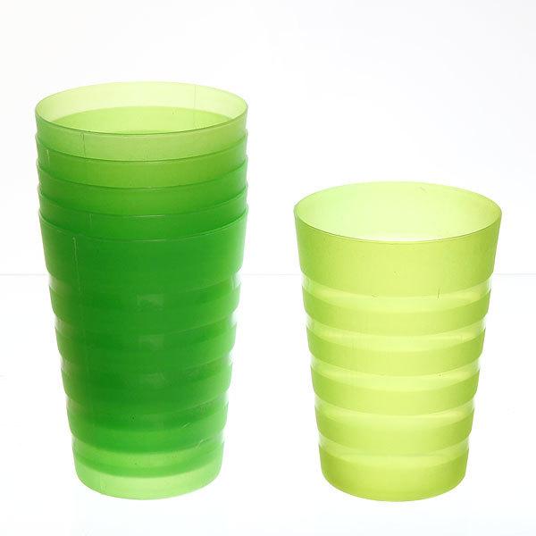 Набор стаканов пластиковых 6шт 250мл ″Полоска″ Селфи купить оптом и в розницу
