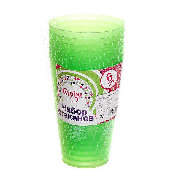 Набор стаканов пластиковых 6шт 250мл ″Пляж″ Селфи купить оптом и в розницу