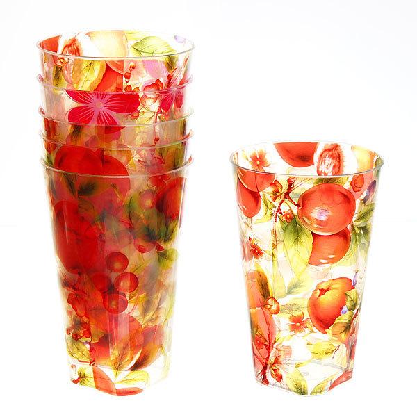 Набор стаканов пластиковых 6шт 250мл ″Цветы-фрукты″ Селфи (1) купить оптом и в розницу