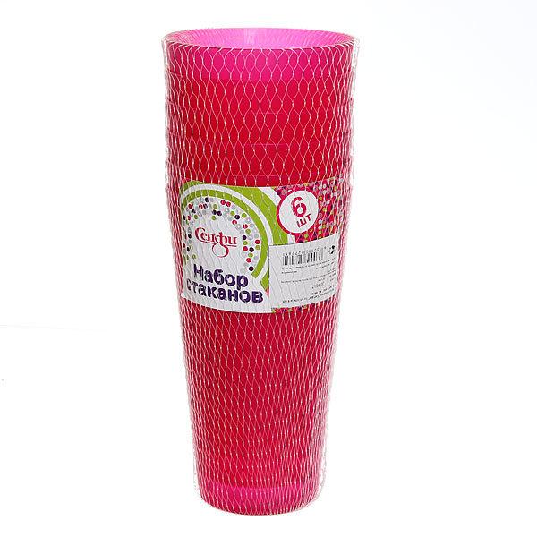 Набор стаканов пластиковых 6шт 350мл ″Лето″ KD 84001 Селфи купить оптом и в розницу