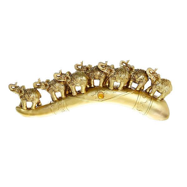 Статуэтки ″7 Слонов на бивне″ бронза 14,5*38см BN955 купить оптом и в розницу