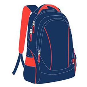 """Рюкзак молодежный """"Феникс""""45*36*18см CASUAL синий-оранжевый, с светоотр.элемент. купить оптом и в розницу"""