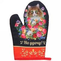 Прихватка-варежка ″На удачу!″, Жостовская кошка купить оптом и в розницу