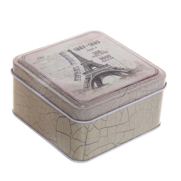 Набор банок для продуктов металлических 2шт ″Париж″ (10*10*5см,8,5*8,5*4,5см) купить оптом и в розницу