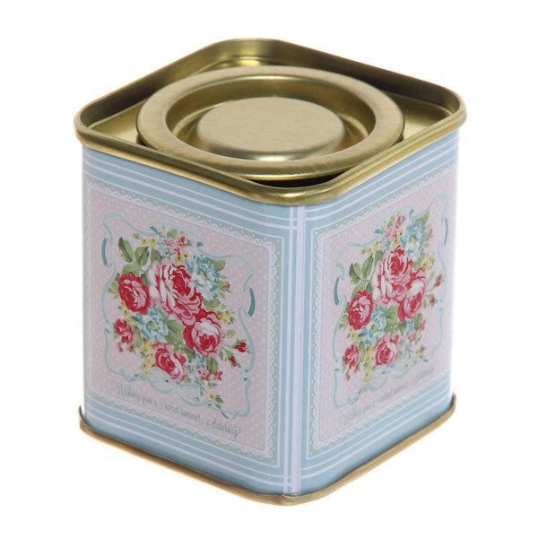 Банка для чая металлическая ″Ассорти″ 5,5*5,5*6см чаепитие купить оптом и в розницу
