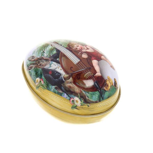 Банка для конфет металлическая ″Пасхальное яичко″ 6,5см купить оптом и в розницу
