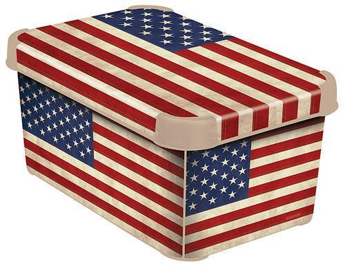 Коробка декоративная STOCKHOLM XL USA flag /*10 шт (39,5х29,5х25)см Curver купить оптом и в розницу