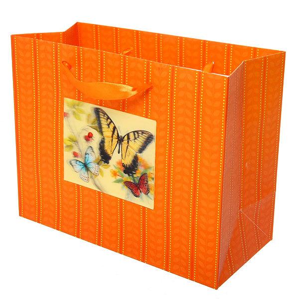 Пакет подарочный ″ 3D Бабочка солнечная″ 32*26*12см 10745-9 купить оптом и в розницу