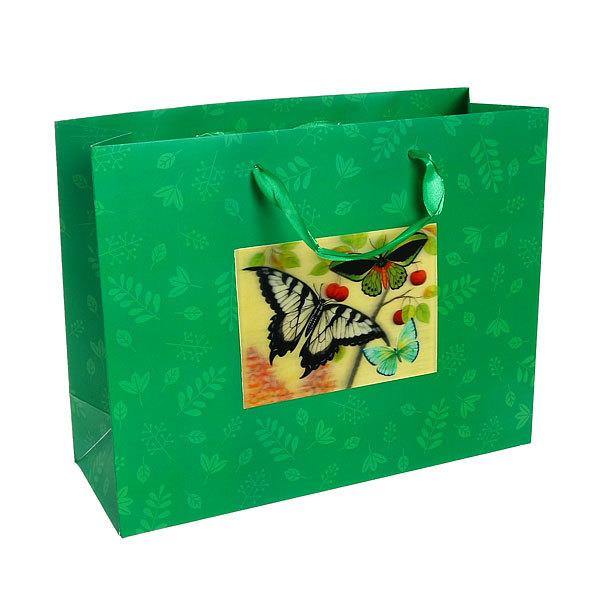 Пакет подарочный ″ 3D Бабочка″ 32*26*12см 10745-10 купить оптом и в розницу