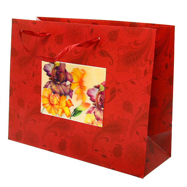 Пакет подарочный ″ 3D Цветочная Феерия″ 32*26*12см 10745-12 купить оптом и в розницу