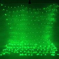 Сетка светодиодная уличная ш 2 * в 1,5м, 300 ламп LED, Зеленый, с возм.соединения купить оптом и в розницу