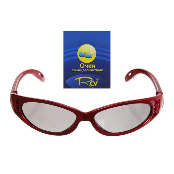 Очки солнцезащитные детские, форма овальная ″Спорт″, однотонные, микс 6 цветов купить оптом и в розницу